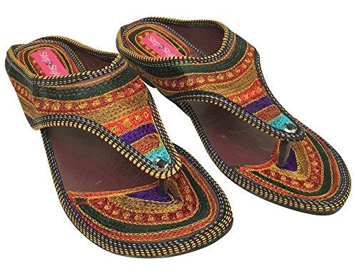 Step n Style, Sandali donna multicolore Multicolor, multicolore (Multicolor), 39 1/3