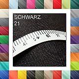 Meterweise OXFORD 600D Farbe 21 | SCHWARZ | Polyester Stoff
