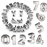 STARUBY 34er Set Ausstechformen Buchstaben Zahlen Fondant Ausstecher...