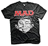 Officially Licensed MAD Magazine - Alfred T-Shirt (Negro), Large - MAD Magazine - amazon.es