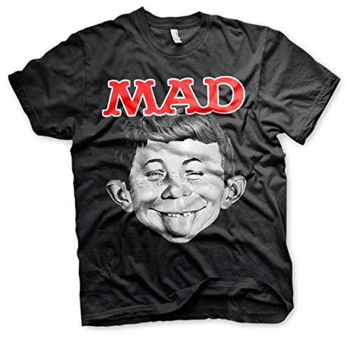 Officially Licensed MAD Magazine - Alfred T-Shirt (Black), X-Large