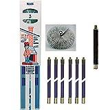 Vigor Blinky 40840-25 Kit Spazzacamino con 6 Canne da 140 cm, Diametro 25 cm