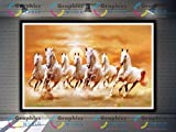#8: Graphics World vastu Poster White 7 Horse vastu Poster, Wall Sticker, Wall Painting, Washable Vinyl Sticker Poster, Natural Sticker, Home Decor, Office Decor Photo, Wallpaper