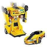 Transfomer Bumble Bee 1:18 Modellauto mit automatischer Verwandlung zum Roboter!Mit extra Hellen Led's in Allen Farben und Musik!Der Hit Weihnachten 2018 und auf jeder Party!Super Geschenk!