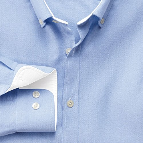 Extra Slim Fit Oxfordhemd in himmelblau blau (Knopfmanschetten Cuff)