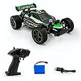 Spire Tech St-3312,4GHz Buggy télécommande de Voiture Racing Truggy jusqu'à 20KMH Rechargeable USB d'intérieur et d'extérieur Jouet, Vert