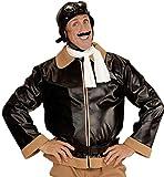 WIDMANN 06594 - Adulto traje Piloto retro, chaqueta, bufanda y aviador gorra, talla XL
