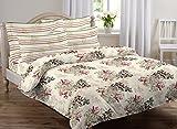 #6: AURAVE Multicolor Floral Design Pattern Reversible Premium Cotton Duvet Cover/Quilt Cover -Single Size