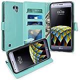 LG X Cam Hülle, LK Luxus PU Leder Brieftasche Flip Case