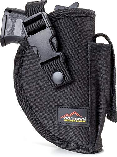 normani Pistolenholster Gürtelholster mit extra Magazintsche für gängige, mittlere Schusswaffen ()