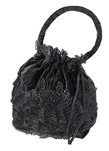 Dark Dreams Mittelalter Gothic Tasche Beutel Sweet Vanity, Farbe:schwarz (Schwarze Tasche Kostüm)