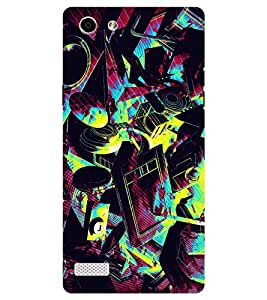 Chiraiyaa Designer Printed Premium Back Cover Case for Oppo Neo 7 (music color painting) (Multicolor)
