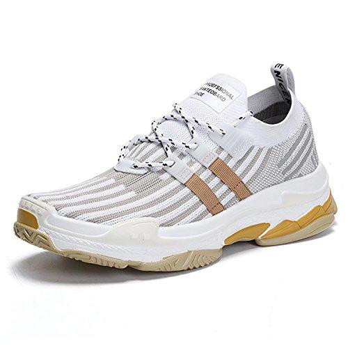 0df6e36cbce094 Mabove Herren Turnschuhe Fitness Turnschuhe Leichte Low-Top Freizeitschuhe  für Jogging Workout Sport (Weiß