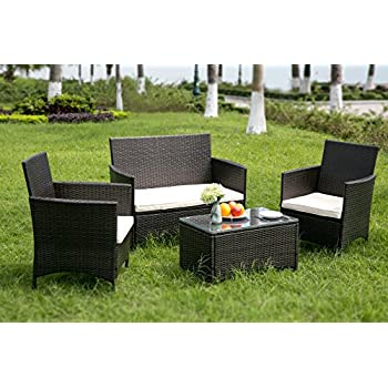 Leisure Zone Rattan Garden Furniture Set Patio Conservatory Indoor ...
