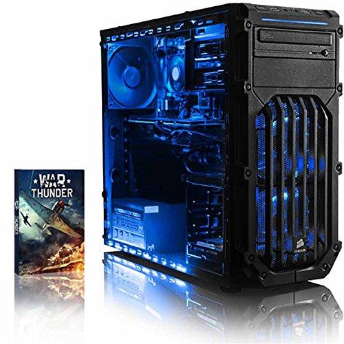 VIBOX Killstreak RLR760-249 Gaming PC Computer mit Spiel Bundle (4,0GHz AMD Ryzen Threadripper 8-Core CPU, Radeon RX 560 Grafikkarte, 32Go DDR4 RAM, 240GB SSD, 2TB HDD, Ohne Betriebssystem)
