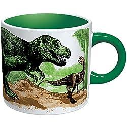 The Disappearing Dinosaur Mug Taza de Cafe Dinosaurio Desaparece Con Calor