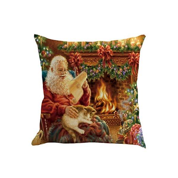 IJKLMNOP Christmas Pillow Square Pillow Case Lino Mat 45x45cm es Adecuado para oficinas, Casas, automóviles, cafeterías… 15