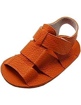 Mejale Baby Schuhe Neugeborenen Sandalen Schuhe rutschfest Kleinkind ersten Wanderer Sommer Schuhe Orange
