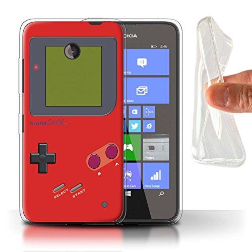 Stuff4 Gel TPU Hülle / Case für Nokia Lumia 635 / Rot Muster / Videogamer/Gameboy Kollektion