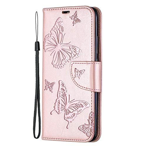 NEXCURIO Xiaomi Redmi 7 Hülle Leder, Handyhülle Tasche Leder Flip Case Brieftasche Etui mit Kartenfach Stoßfest Kratzfest Schutzhülle für Xiaomi Redmi7 –