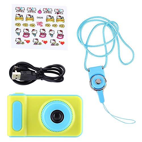 Neufday Aus ungiftigem Kunststoff, 1080p 2 Zoll Farbdisplay hd Kinderspielzeug Mini-Digitalkamera(Blau) -