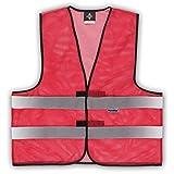 Warnweste Mesh 5 XL (Meshgewebe) Rot in Übergröße Sommerwarnweste