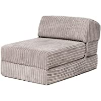 Changing Sofas 'Bjorn' Mink Jumbo Cord Fold Out Single Z Bed Mattress