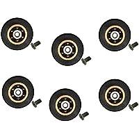 Ruedas con rodamientos para repuesto de mampara de ducha corrediza, 6 unidades, 26 mm de diámetro con tornillo M4. Tornillos incluidos