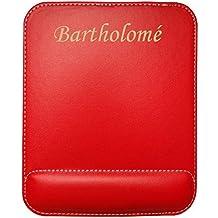 Tapis de souris en cuir artificiel avec le texte: Bartholomé (Noms/Prénoms)