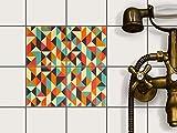 creatisto Fliesen kleben | Dekorativ-Aufkleber Folie Sticker Badfolie Küchen-Fliesen Badgestaltung | 10x10 cm Design Motiv Hallucinogen - 4 Stück