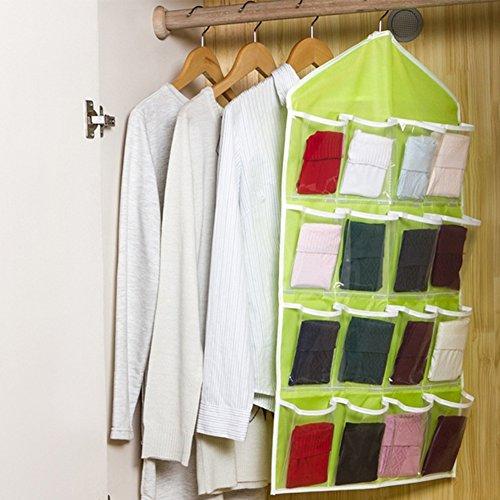 FAVOLOOK 16 bolsillos transparentes para colgar en la puerta, zapatero