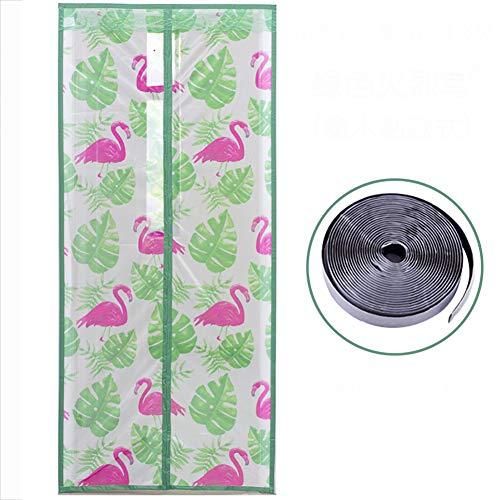 Magnet fliegengitter Flamingo, Mit Magic tape Ultra seal-Grün 90x200cm/35.4x78.7inch