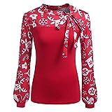 Luckycat Xmas Pullover Damen Christmas Frauen Sweater Weihnachtspulli Hemd Winterpullover Sweatshirt Weihnachten Pulli Langarm T-Shirt Outwear Tops