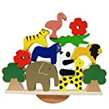 Lewo De madera Animales Apilado Bloques Equilibrio Juegos Montessori Juguete para niños pequeños