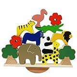 Lewo De madera Animales Apilado Bloques Equilibrio Juegos Montessori...