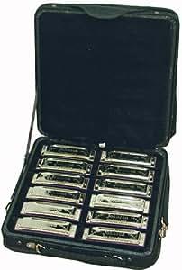Set de 12 Harmonicas Johnson en valise ~ Neuf & Garantie