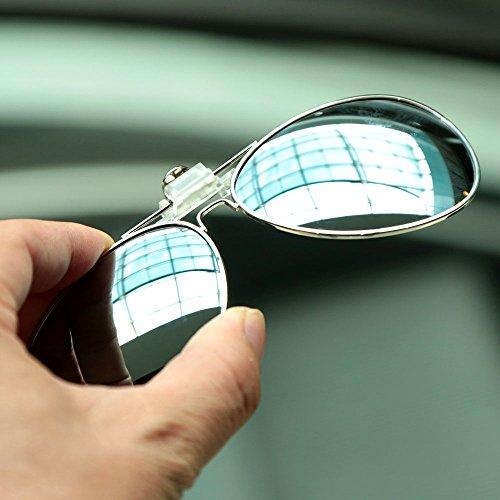 saturned (TM) Polarisierte Clip auf Sonnenbrillen Clip auf Brille Polaroid Objektiv Herren Damen Fahrrad Spiegel Gläser Sun-Nachtsicht fahren Auto Eyewear, gelb