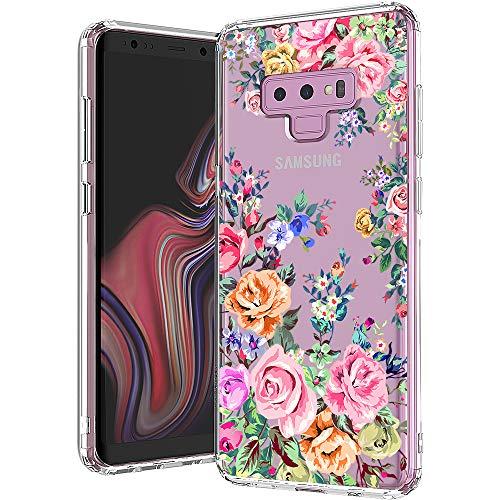 Cloud 9 Design Blume (MOSNOVO Galaxy Note 9 Hülle, Rosengarten Blossom Blühen Blumen Flower Muster TPU Bumper mit Hart Plastik Hülle Durchsichtig Schutzhülle Transparent für Samsung Galaxy Note 9 Case (Rose Garden))