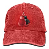 Estrange Boxing Gloves Denim Hat Adjustable Unisex Casual Baseball Hat