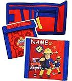 Unbekannt Geldbörse -  Feuerwehrmann Sam Jones  - incl. Name - Geldbeutel & Portemonnaie für Kinder - Portemonnaise - Geldtasche Geld - Feuerwehr / Rettung - Geld - J..