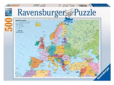 Ravensburger 14430 Mapa político de Europa - Puzzle (500 piezas) por Ravensburger