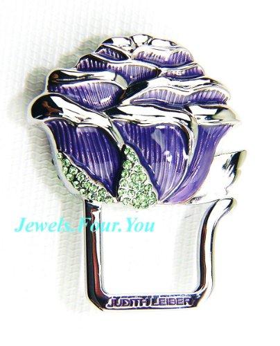 judith-leiber-pink-purple-key-ring-chain-paved-swarovski-crystal