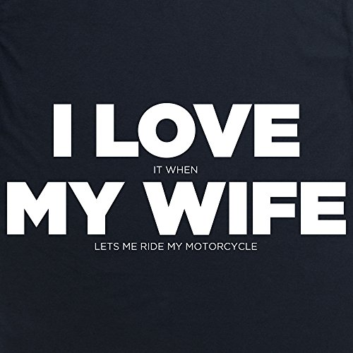 I Love My Motorcycle His T-Shirt, Damen Schwarz