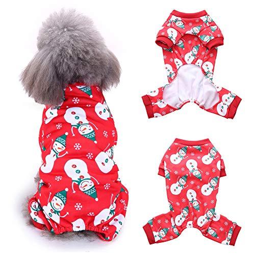 Lovejoy Store Hunde-Kostüm, Weihnachts-Schneemann-Druck, weiche Hemden, Weste, Mantel - S/M/L/XL 4 Größen, Snowman#, - Schneemann Kostüm Für Hunde