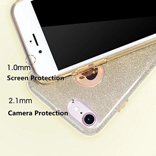 Luccichio Custodia iPhone SE 5S 5jinchangwu TPU + PC protettiva con case ultra sottile antiurto antigraffio Protettore della pelle per iPhone SE 5S 5Rosy oro argento