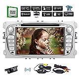 Upgrade-Android 6.0 Eibisch Autoradio 2 Lärm im Schlag GPS Autoradio Autoradio EinCar für Ford Focus Mondeo Bluetooth mit Navigations-DVD-CD-Player-Steuergerät-Unterstützungs-USB / SD / WiFi / OBD2 / Cam-in / Telefon Spiegel + Backup-Kamera