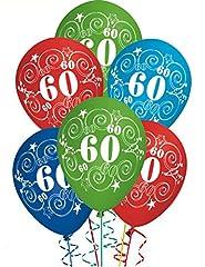 Idea Regalo - ocballoons Palloncini Compleanno 60 Anni addobbi e Decorazioni per Feste Party Confezione 20pz