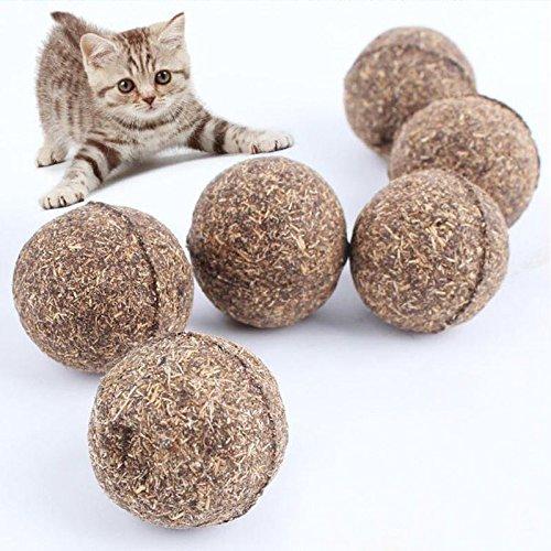 Nature Pet Katze Mint Ball Beschichtet mit Katzenminze Spielzeug (3 Stück)