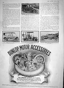 antique print of 1910 landauletee limousine motor car. Black Bedroom Furniture Sets. Home Design Ideas