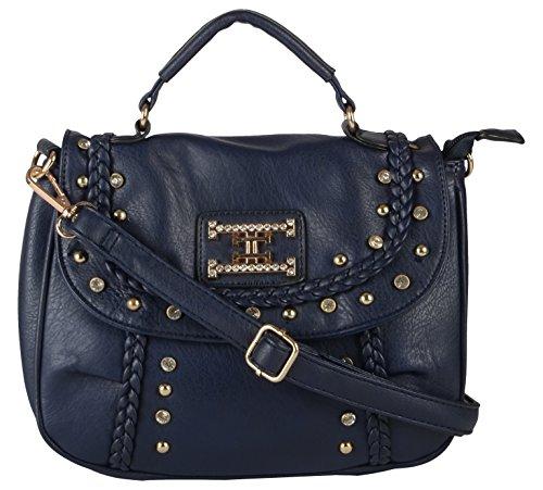 lavu & me Women's Satchel ,girls sling bag &cross body bag ,handbag Blue (Blue, LE053B)